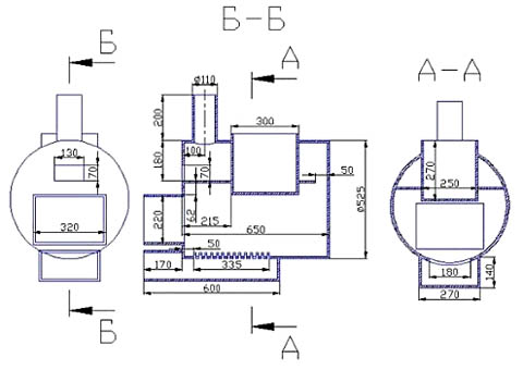 Схема 500 трубы для бани