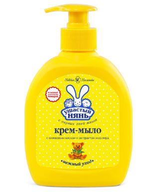 Крем-мыло для детей Ушастый нянь с оливковым маслом и алоэ вера