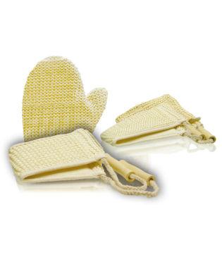 Мочалка для тела мелкой вязки, с ручками