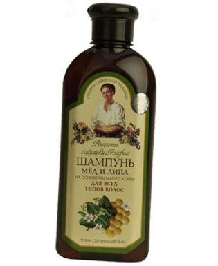 Шампунь мёд и липа, для всех типов волос, 350 мл